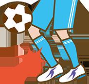 サッカーのボールを蹴るイラスト
