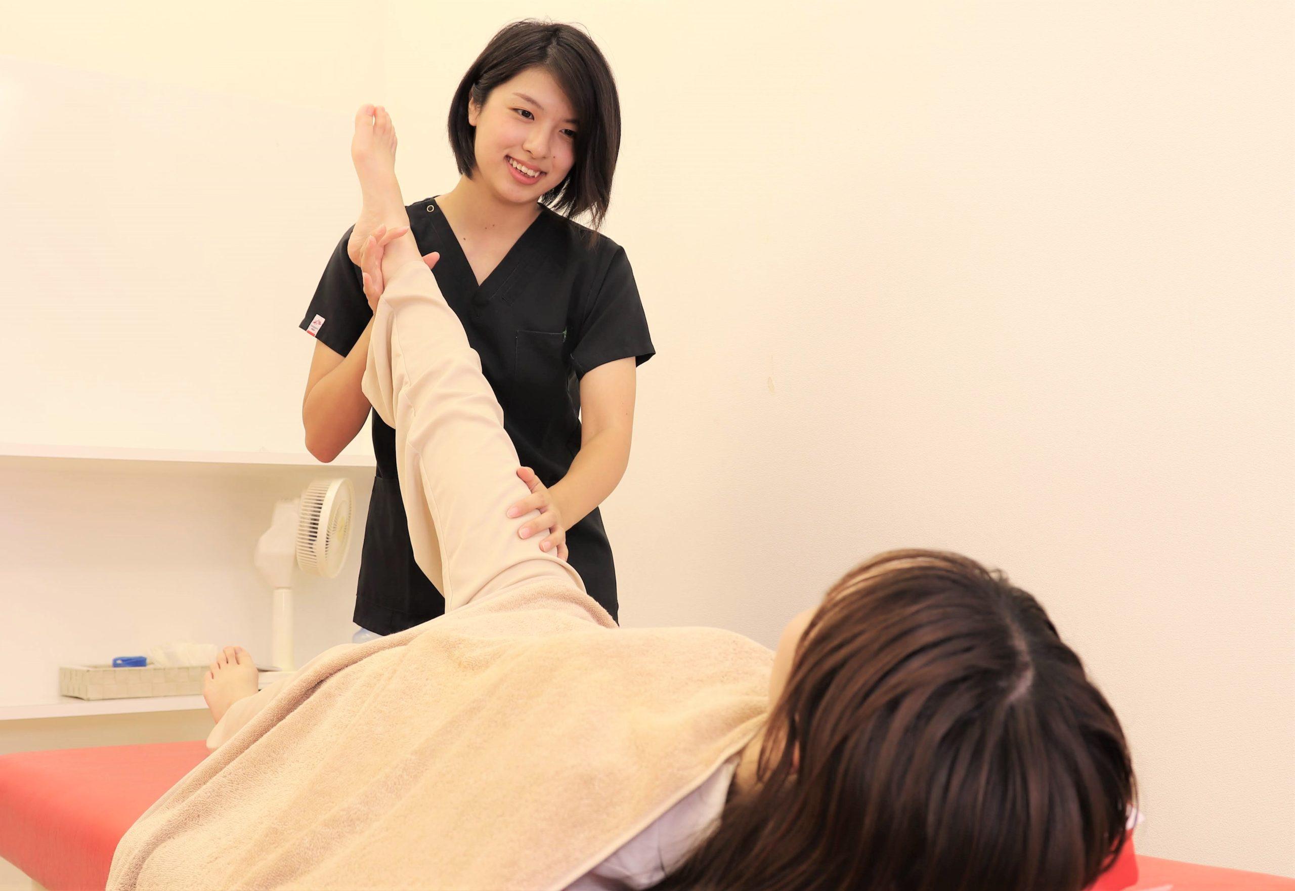 むさし鍼灸整骨院の変形性膝関節症の施術写真