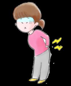 腰の痛みのイラスト
