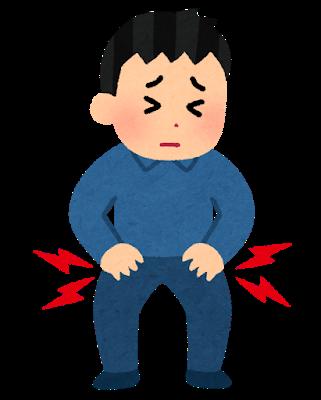 変形性股関節症のイラスト