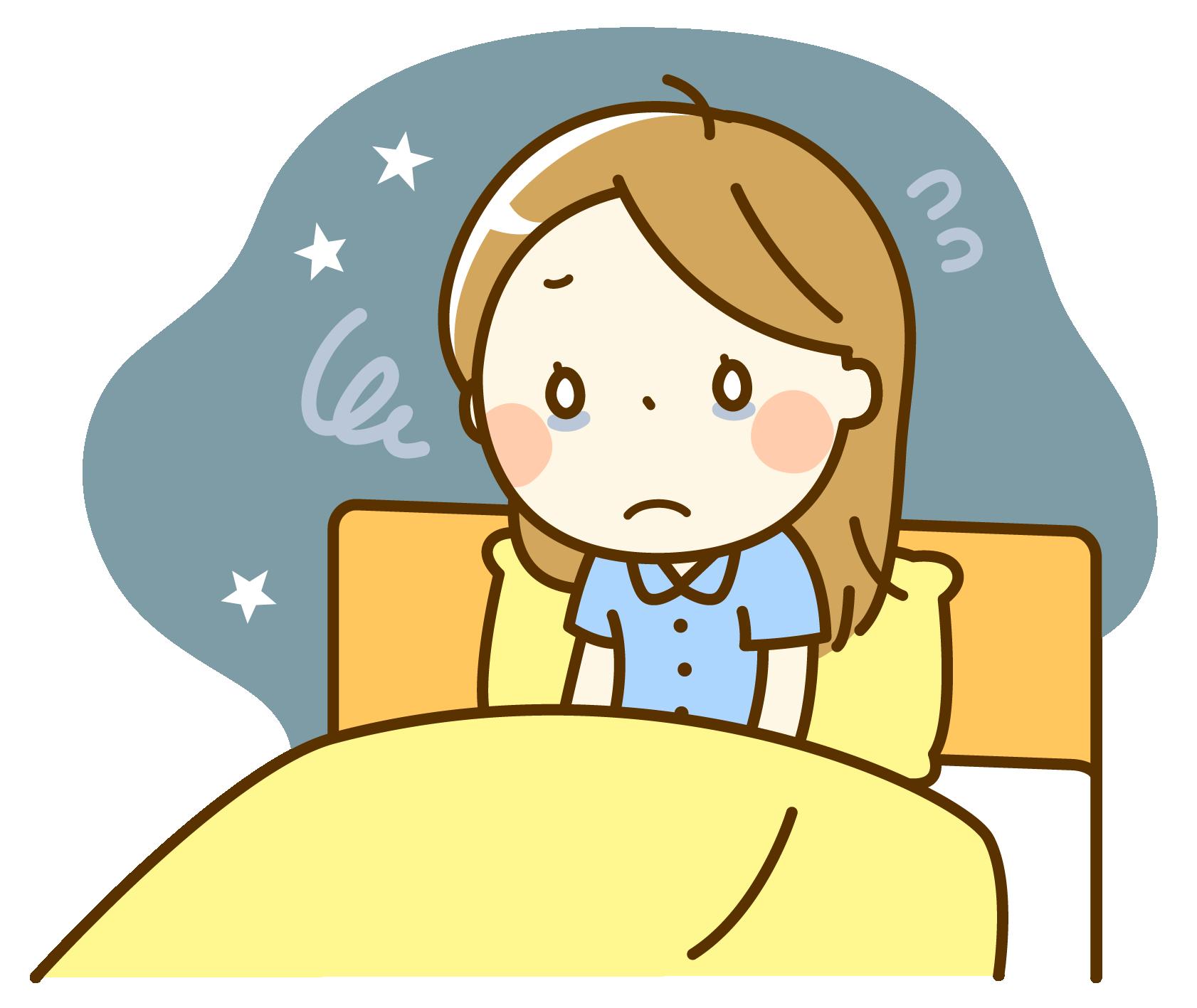 不眠のイラスト
