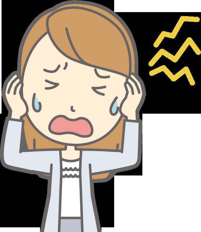 耳鳴り・頭痛のイラスト