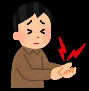 手の痛みのイラスト