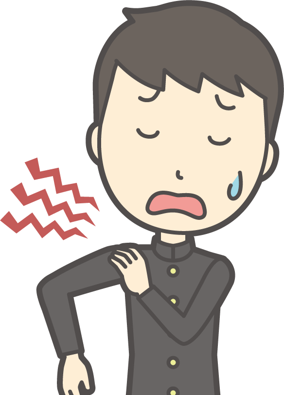 学生の肩の痛み